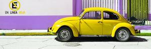 "¡Viva Mexico! Panoramic Collection - ""En Linea Roja"" Yellow VW Beetle Car by Philippe Hugonnard"