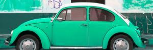 ¡Viva Mexico! Panoramic Collection - Green VW Beetle by Philippe Hugonnard