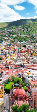 ?Viva Mexico! Panoramic Collection - Guanajuato Colorful Cityscape VI by Philippe Hugonnard