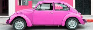 ¡Viva Mexico! Panoramic Collection - Hot Pink VW Beetle Car by Philippe Hugonnard