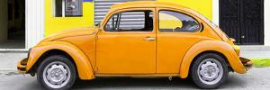 ¡Viva Mexico! Panoramic Collection - Light Orange VW Beetle Car by Philippe Hugonnard
