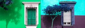 ¡Viva Mexico! Panoramic Collection - Mexican Colorful Facades I by Philippe Hugonnard