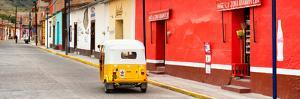 ¡Viva Mexico! Panoramic Collection - Mexican Street Scene with Tuk Tuk III by Philippe Hugonnard
