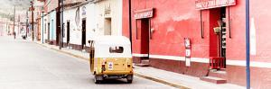 ¡Viva Mexico! Panoramic Collection - Mexican Street Scene with Tuk Tuk by Philippe Hugonnard