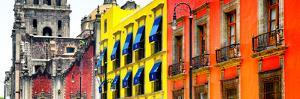 ¡Viva Mexico! Panoramic Collection - Mexico City Colorful Facades II by Philippe Hugonnard
