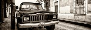 ¡Viva Mexico! Panoramic Collection - Old Jeep in San Cristobal de Las Casas III by Philippe Hugonnard