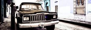 ¡Viva Mexico! Panoramic Collection - Old Jeep in San Cristobal de Las Casas VI by Philippe Hugonnard