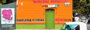 ¡Viva Mexico! Panoramic Collection - Orange Papeleria Estrella by Philippe Hugonnard