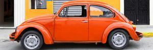 ¡Viva Mexico! Panoramic Collection - Orange VW Beetle Car by Philippe Hugonnard