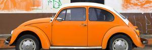 ¡Viva Mexico! Panoramic Collection - Orange VW Beetle by Philippe Hugonnard