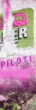 ¡Viva Mexico! Panoramic Collection - Pink Grunge Wall II by Philippe Hugonnard