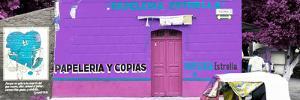 ¡Viva Mexico! Panoramic Collection - Purple Papeleria Estrella by Philippe Hugonnard