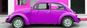 ¡Viva Mexico! Panoramic Collection - Purple VW Beetle Car by Philippe Hugonnard