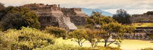 ¡Viva Mexico! Panoramic Collection - Pyramid of Monte Alban with Fall Colors II by Philippe Hugonnard