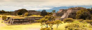 ¡Viva Mexico! Panoramic Collection - Pyramid of Monte Alban with Fall Colors III by Philippe Hugonnard