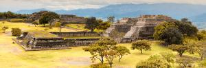 ¡Viva Mexico! Panoramic Collection - Pyramid of Monte Alban with Fall Colors V by Philippe Hugonnard