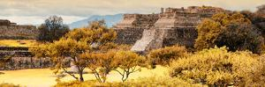 ¡Viva Mexico! Panoramic Collection - Pyramid of Monte Alban with Fall Colors by Philippe Hugonnard