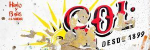 ¡Viva Mexico! Panoramic Collection - Red SOL Sign Street Wall by Philippe Hugonnard
