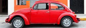 ¡Viva Mexico! Panoramic Collection - Red VW Beetle Car by Philippe Hugonnard