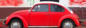 ¡Viva Mexico! Panoramic Collection - Red VW Beetle by Philippe Hugonnard