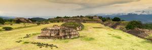 ¡Viva Mexico! Panoramic Collection - Ruins of Monte Alban at Sunset II by Philippe Hugonnard