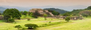 ¡Viva Mexico! Panoramic Collection - Ruins of Monte Alban at Sunset III by Philippe Hugonnard