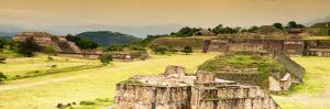 ¡Viva Mexico! Panoramic Collection - Ruins of Monte Alban at Sunset by Philippe Hugonnard