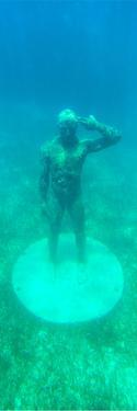 ¡Viva Mexico! Panoramic Collection - Sculptures at bottom of sea in Cancun by Philippe Hugonnard
