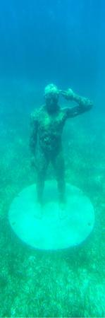 ¡Viva Mexico! Panoramic Collection - Sculptures at bottom of sea in Cancun