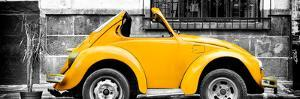 ¡Viva Mexico! Panoramic Collection - Small Gold VW Beetle Car by Philippe Hugonnard