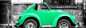 ¡Viva Mexico! Panoramic Collection - Small Green VW Beetle Car by Philippe Hugonnard