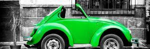 ¡Viva Mexico! Panoramic Collection - Small Kelly Green VW Beetle Car by Philippe Hugonnard