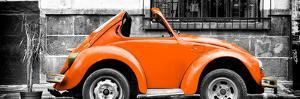 ¡Viva Mexico! Panoramic Collection - Small Orange VW Beetle Car by Philippe Hugonnard
