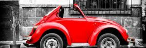 ¡Viva Mexico! Panoramic Collection - Small Red VW Beetle Car by Philippe Hugonnard