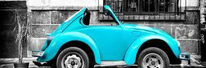 ¡Viva Mexico! Panoramic Collection - Small Turquoise VW Beetle Car by Philippe Hugonnard