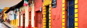 ¡Viva Mexico! Panoramic Collection - Street Scene San Cristobal de Las Casas II by Philippe Hugonnard