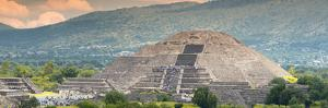 ¡Viva Mexico! Panoramic Collection - Teotihuacan Pyramid of the Sun II by Philippe Hugonnard