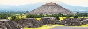 ¡Viva Mexico! Panoramic Collection - Teotihuacan Pyramids V by Philippe Hugonnard