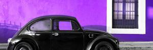 ¡Viva Mexico! Panoramic Collection - The Black VW Beetle Car with Purple Wall by Philippe Hugonnard