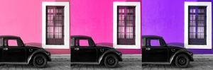 ¡Viva Mexico! Panoramic Collection - Three Black VW Beetle Cars VII by Philippe Hugonnard
