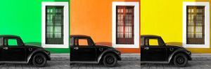 ¡Viva Mexico! Panoramic Collection - Three Black VW Beetle Cars X by Philippe Hugonnard