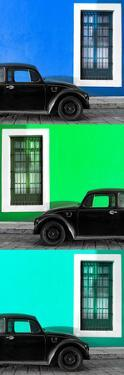 ¡Viva Mexico! Panoramic Collection - Three Black VW Beetle Cars XIX by Philippe Hugonnard