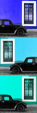 ¡Viva Mexico! Panoramic Collection - Three Black VW Beetle Cars XVIII by Philippe Hugonnard