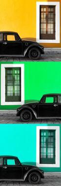 ¡Viva Mexico! Panoramic Collection - Three Black VW Beetle Cars XXI by Philippe Hugonnard