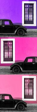 ¡Viva Mexico! Panoramic Collection - Three Black VW Beetle Cars XXIII by Philippe Hugonnard