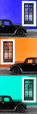 ¡Viva Mexico! Panoramic Collection - Three Black VW Beetle Cars XXIV by Philippe Hugonnard