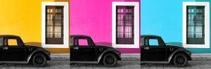 ¡Viva Mexico! Panoramic Collection - Three Black VW Beetle Cars by Philippe Hugonnard