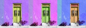 ¡Viva Mexico! Panoramic Collection - Tree Colorful Doors III by Philippe Hugonnard