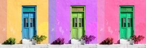 ¡Viva Mexico! Panoramic Collection - Tree Colorful Doors IV by Philippe Hugonnard