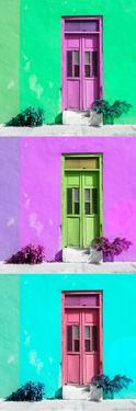 ¡Viva Mexico! Panoramic Collection - Tree Colorful Doors IX by Philippe Hugonnard